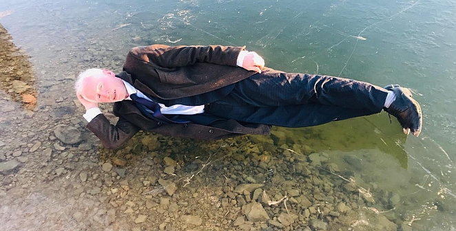 Donan gölde hatıra fotoğrafı