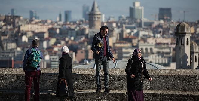 İstanbul'da güneş keyfi