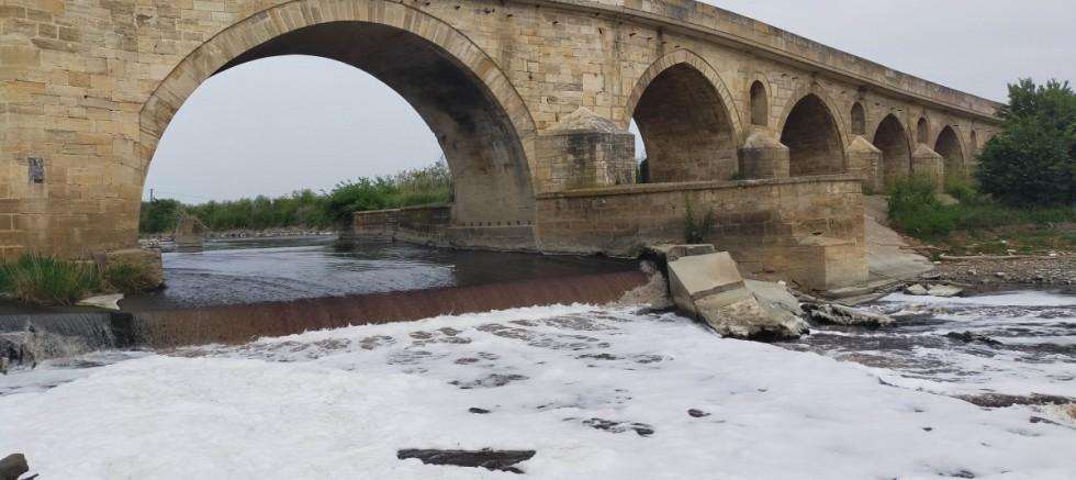 Altı asırlık köprüde restorasyon çalışmaları başladı