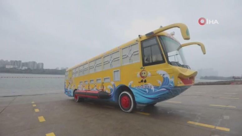 Çin'den Suda Gidebilen  Otobüs