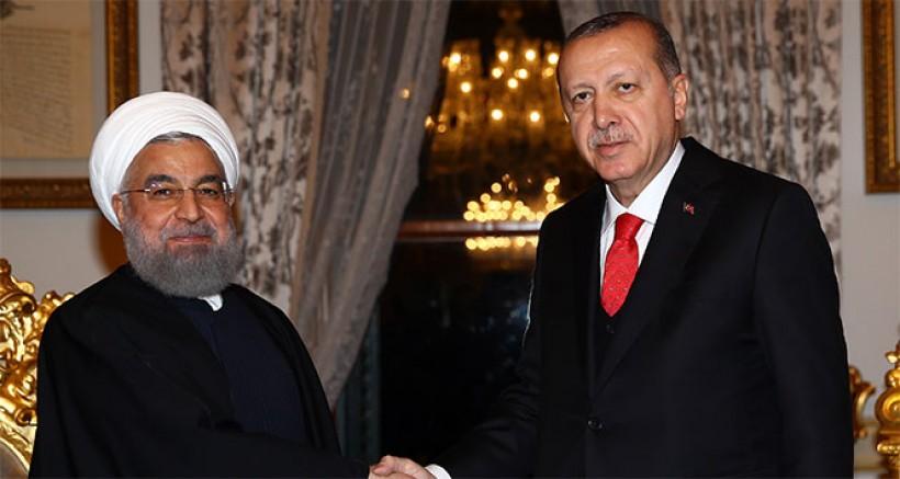 Erdoğan, İran Cumhurbaşkanı Ruhani ile görüştü