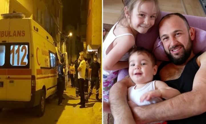 Eşi ve iki çocuğunun cansız bedeniyle karşılaştı