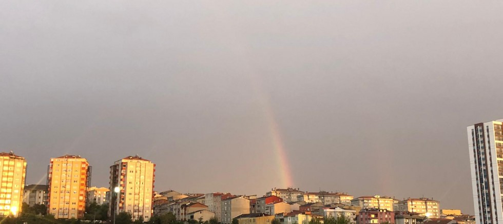 İstanbul'da çifte gökkuşağı