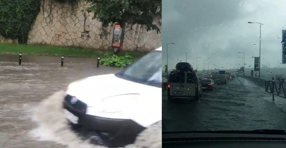 İstanbul'da sağanak yağış etkili oluyor