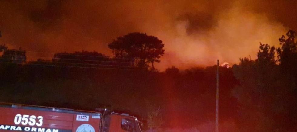 Karacasu'da yangın yön değiştirdi