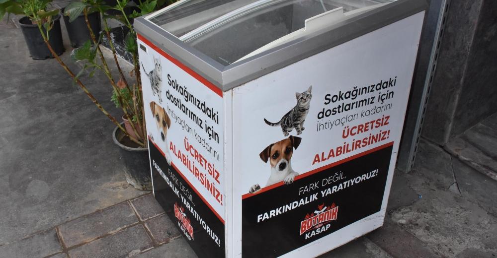 Kasaptan sokak hayvanları için örnek uygulama