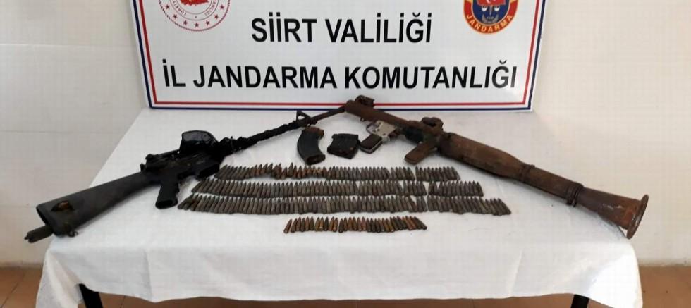 Siirt'te PKK'ya ait mühimmat ele geçirildi