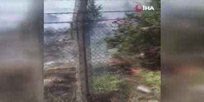 Ankara'da Atatürk Orman Çiftliği arazisinde yangın!