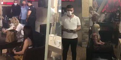 Korona partisine polis baskını