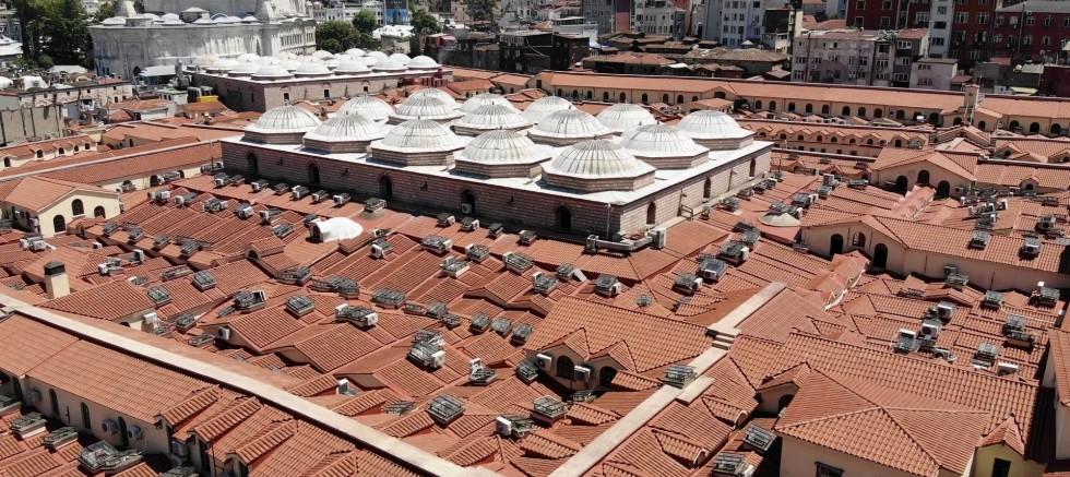 Tarihi Kapalıçarşı'nın çatısı 1 Temmuz'da ziyarete açılıyor